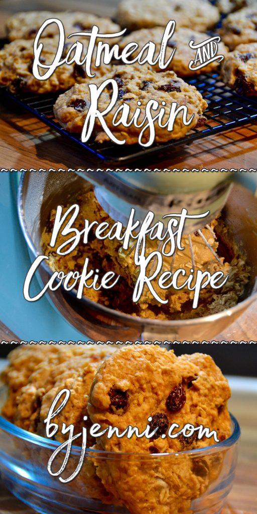 Easy Oatmeal & Raisin Breakfast Cookie Recipe